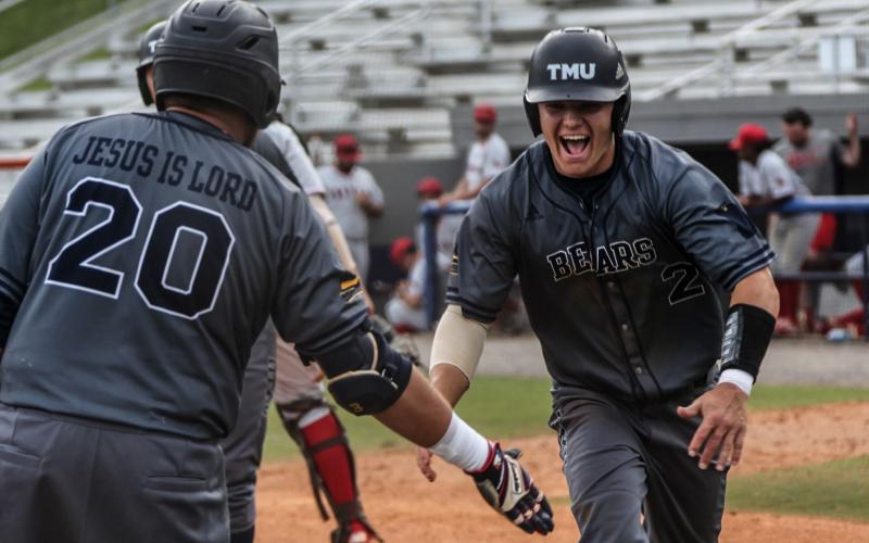 Truett McConnell's Josh Johnston, a preseason NAIA All-American pick, had four hits in the season-opener Tuesday afternoon against Toccoa Falls College. Johnston had a home run and a double among his hits, drove in five runs and scored four times. (Photo/TMU Athletics)