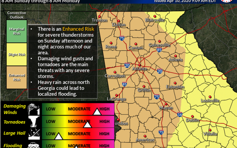 Severe storms expected Easter Sunday in the Charlotte area. Here's the latest