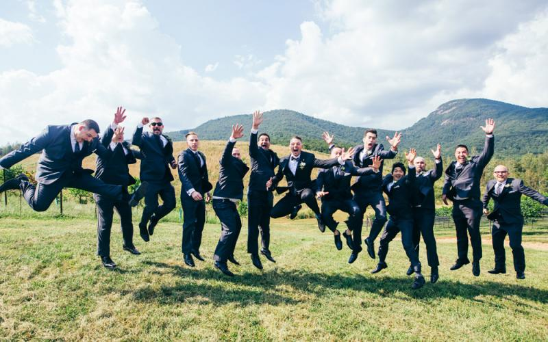 Chaz Parks jumped into married life alongside his team of groomsmen at Yonah Mountain Vineyards. THE TALENTED PHOTOGRAPHER