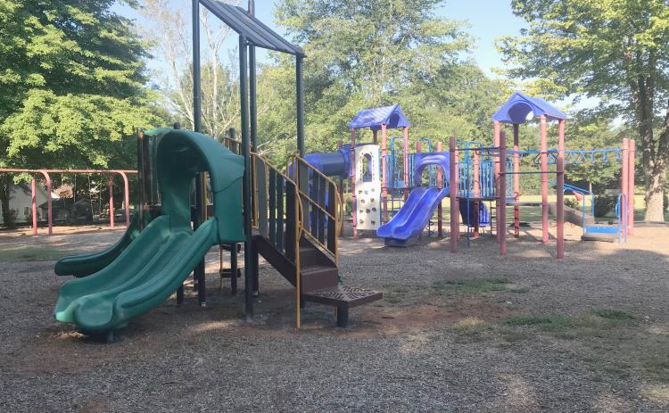 A new toddler play set replaced the old one at Cleveland's city park on Woodman Hall Road over this past weekend. (Photo/Stephanie Hill)