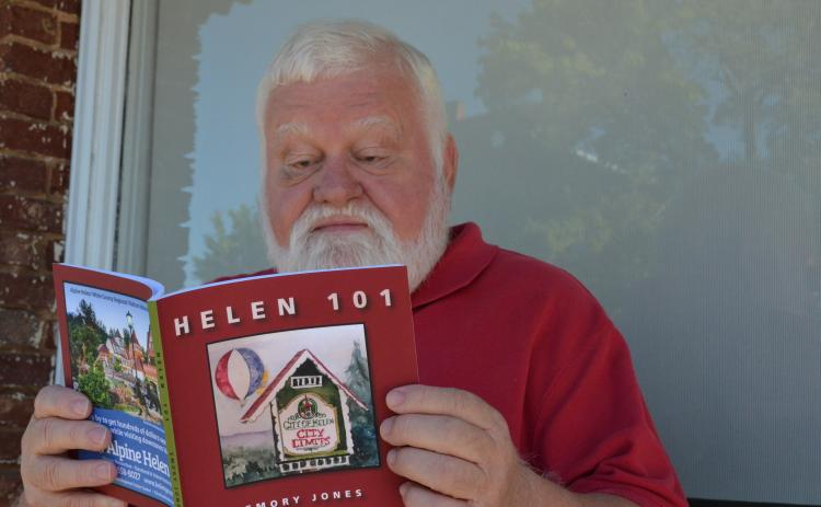White County author, historian and humorist Emory Jones' newest book takes readers to school about the city of Helen. (Photo/Stephanie Hill)