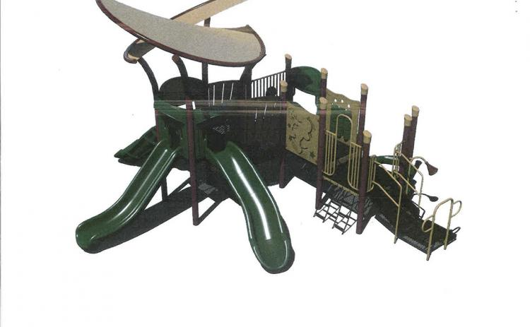 This rendering shows what the new playground set could look like. (Image courtesy city of Helen)