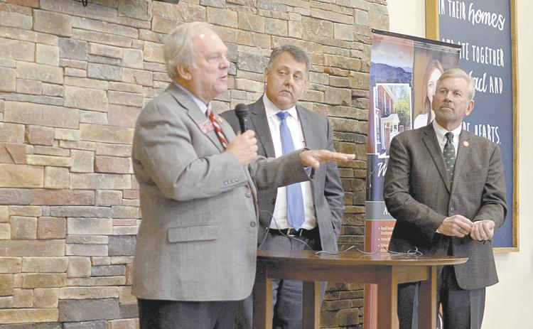 State Rep. Lee Hawkins, state Sen. Steve Gooch and state Rep. Terry Rogers recently talked top priorities for the 2020 legislative session. (Photo/Wayne Hardy)