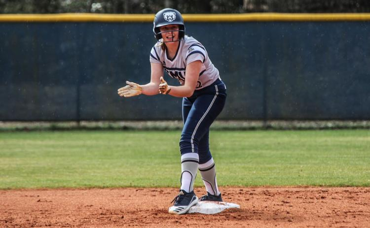 Mattie Brooks had four hits in two games in her collegiate debut with the TMU Lady Bears. (Photo/TMU Athletics)