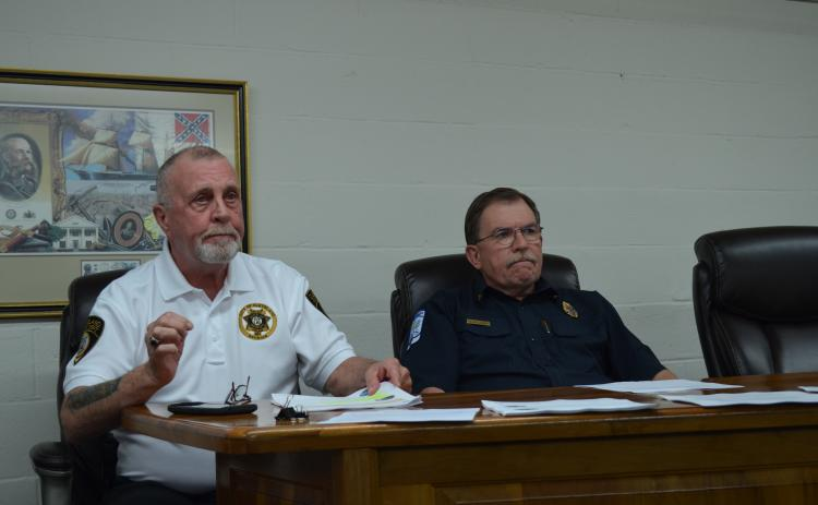 Cleveland Police Chief John Foster and White County Fire Division Chief Norman Alexander spoke March 16 about actions that are being taken to protect public safety personnel during the COVID-19 (coronavirus) pandemic. (Photo/Stephanie Hill)