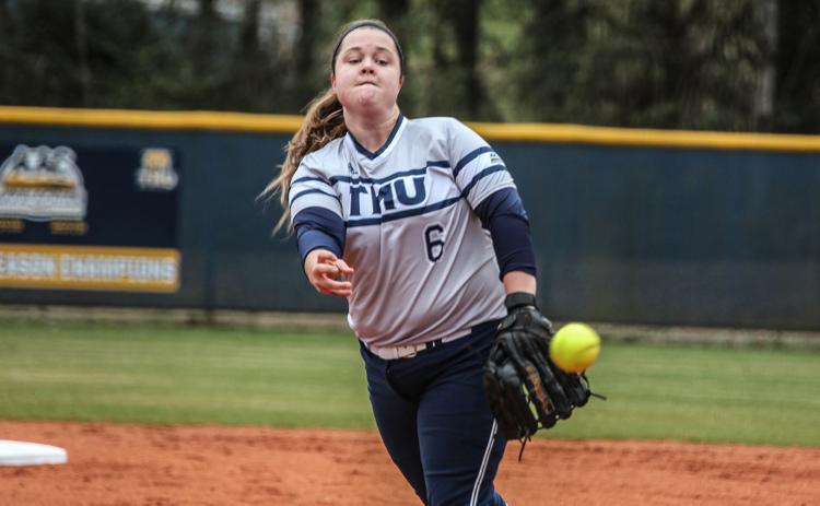 TMU senior Bethany Hyde tossed a no-hitter during tournament. (Photo/TMU Athletics)