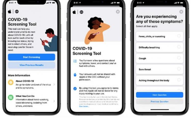 An app and website that guides Americans through a series of questions about their health and exposure to determine if they should seek care for COVID-19 symptoms has been released.
