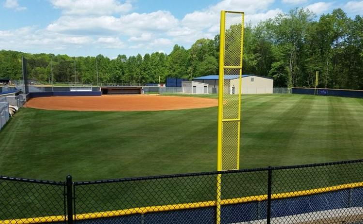 The TMU softball complex, above, along with the baseball complex and soccer venue will be upgraded with lights later this summer. (Photo/TMU Athletics)