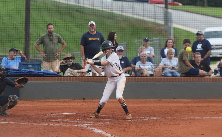 Katie Palmer had three hits in the region win last week over North Hall.  (Photo/Mark Turner)