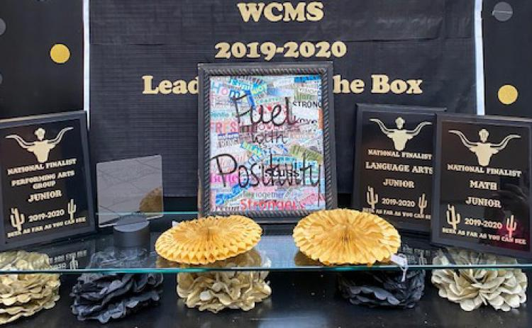 WCMS awards: national finalist in performing arts group, social media award Youtube, national finalist in language arts, national finalist in math. (Submitted photo)