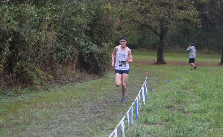 Eamonn O'Bryant was second in the 7-AAA boy's race. (Photos/Mark Turner)