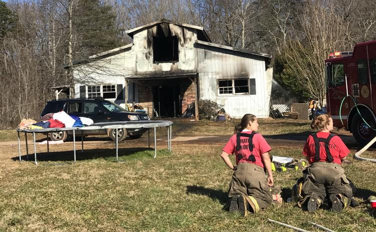 There were no injuries reported in a residential fire on Thursday, Jan. 14. (Photo courtesy White County Public Safety)