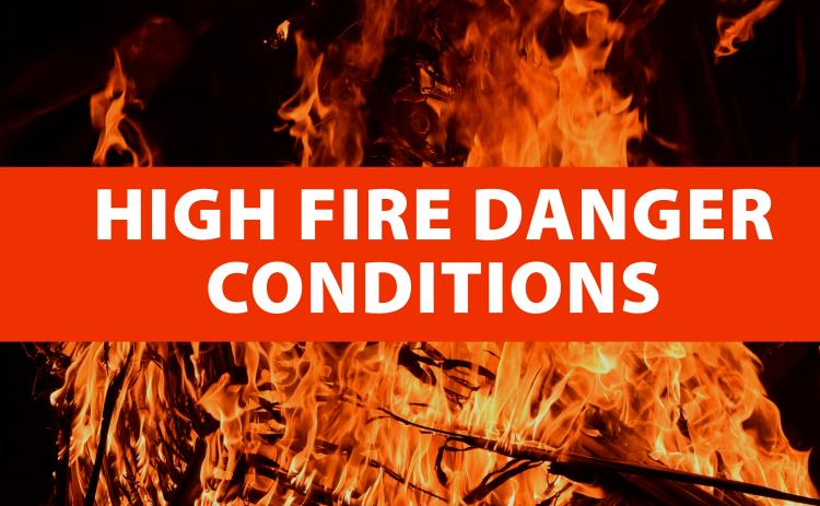 High fire danger conditions are expected this afternoon in White County due to low relative humidities.